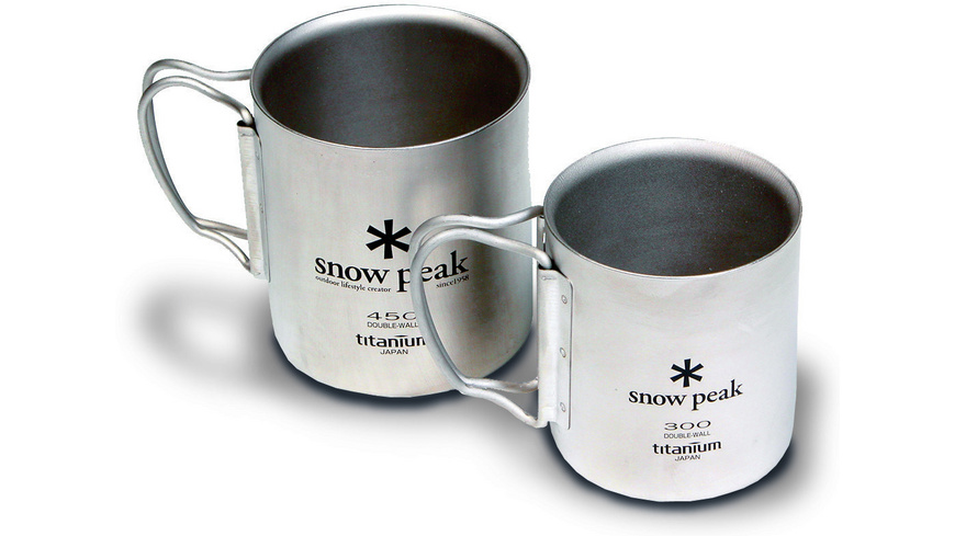 Snow Peak - Double Wall Cup Titanium 300 - Campinggeschirr Besteck