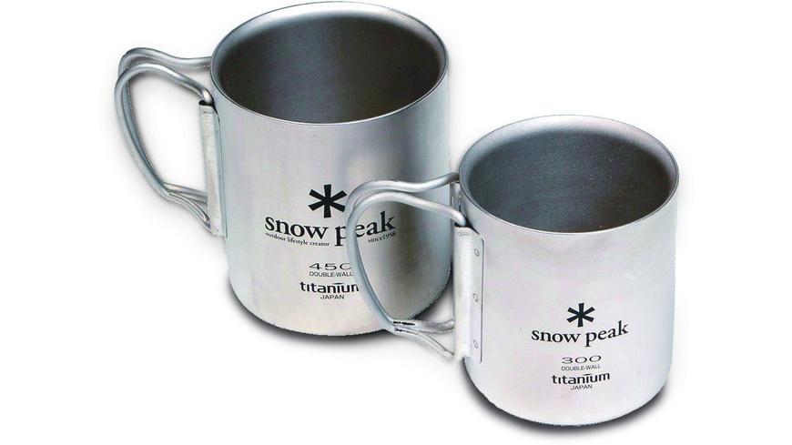 Snow Peak - Double Wall Cup Titanium 450 - Campinggeschirr Besteck