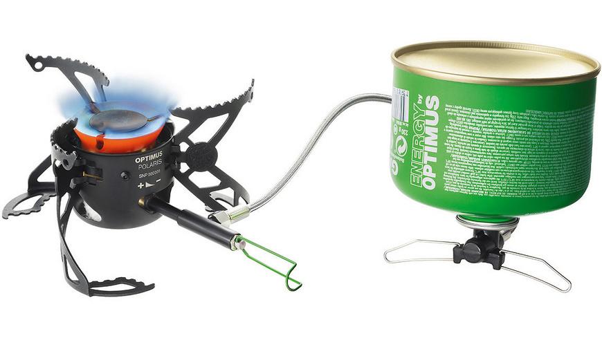 Optimus Campingkocher Outdoor-Kocher Polaris Kocher incl Brennstoffflasche