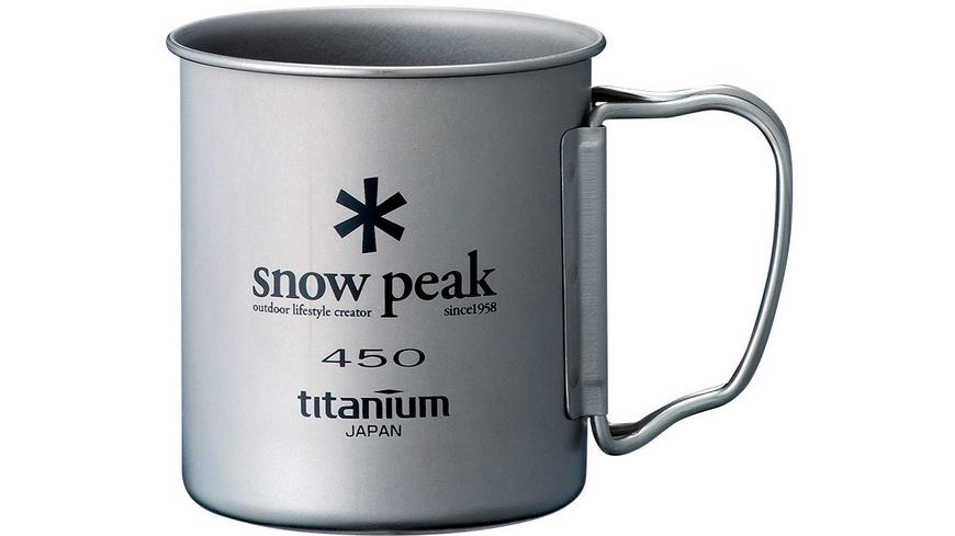 Snow Peak - Single Cup Titanium 450 - Campinggeschirr Besteck