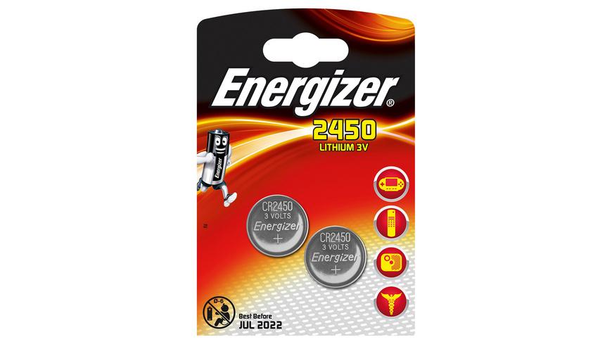 Energizer - CR2450 Knopfzellen 2 Stueck - Batterien Akkus