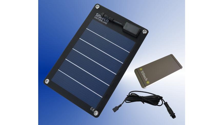 SIStech - Set Solarflex 5 W Super Slim 5000 mAh - Ladegeraete