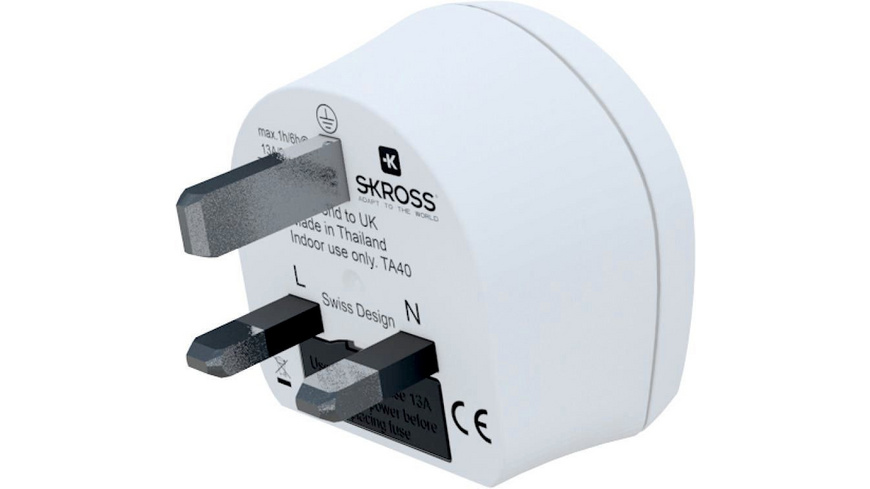 Skross - Country Adapter World to UK - Reiseadapter