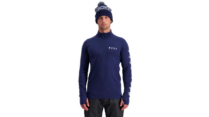 Mons Royale - Olympus 30 Half Zip - Pullover