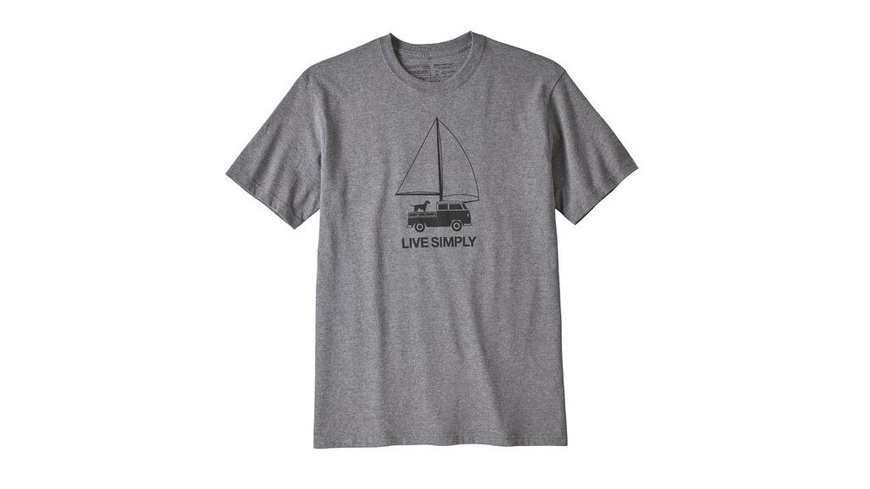 Patagonia - Ms Live Simply Wind Powered ResponsibiliTee - TShirts