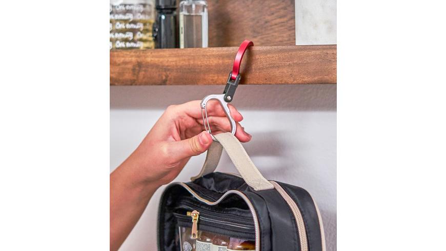 Heroclip - Karabiner mit Clip und Drehhaken Mini - Taschen Koffer Zubehoer